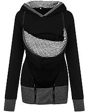 95sCloud Dames draagjas dames sweatshirts met capuchon moederschap zwangerschap jas overgangsjas winter fleecejack pullover draagdoek babydrager jas draagjas draagtrui tops