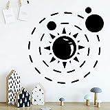 HNXDP Moderno Galaxy Pattern Vinilo Impermeable Pegatinas de pared Sala de estar Dormitorio Habitación móvil Decoración de la casa Accesorios Marrón M 30cmx30cm