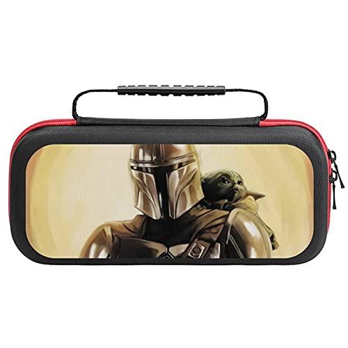 Baby Yoda Star Wars Tragetasche für Nintendo Switch, schützende Hartschale Reise Aufbewahrungstasche Tragetasche Tasche mit 20 Spielpatronen für Nintendo Switch Konsole Zubehör