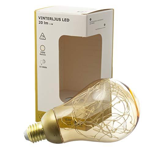 IKEA VINTERLJUS Dekorative E27 LED Lichterkette Globe Birne 2500K Warmweiß