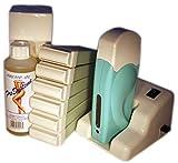 EpilWax Kit d'Épilation Modulaire Complet - Avec 6 Recharges de Cire, Chauffe Cire...