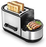 ykw Panificadora, Tostadora eléctrica Horno para sándwich Carne Asado Parrilla Filete Frito Huevo Tortilla Sartén Alimentos