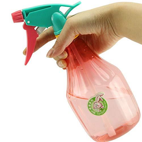 Sportstorm 600ml Portable Spray Bottle Refillable PE Fine Mist Empty Spray Sprayer Bottle Flower Spray Bottles Water, Kitchen, Bath, Beauty, Hair, and Cleaning (Random Color)(1PC)