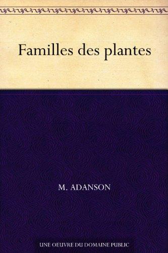 Couverture du livre Familles des plantes