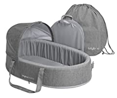 Includes activity bar, canopy and carry bag Rigid insert board supports up to 30 pounds Ultra-soft inner padding and durable construction Padded carry handles with Velcro closure Removable & machine washable cover, waterproof base