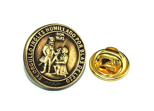 Gemelolandia | Pin de Traje Medalla de Blas de Lezo Homenaje Modelo Anverso | Pines Originales y Baratos Para Regalar | Para Camisas, Chaquetas, Jerséis o para tu Mochila | Detalles Divertidos
