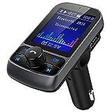 Nulaxy émetteur FM, sans fil Bluetooth transmetteur FM Radio Adapter Car Kit avec écran...