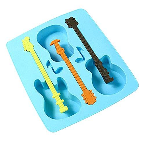 Lingyilubaihuo - Molde de hielo para guitarra multiusos
