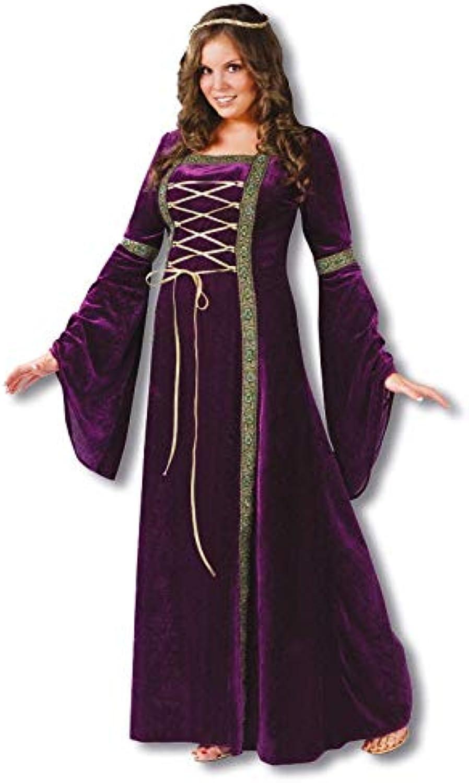 Horror-Shop Mittealter Kostüm lilat Plus Größe