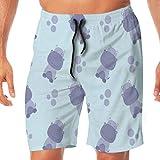 Yuanmeiju Sea Turtles Green Men's Traje de baño Beachwear Casual Beach Shorts