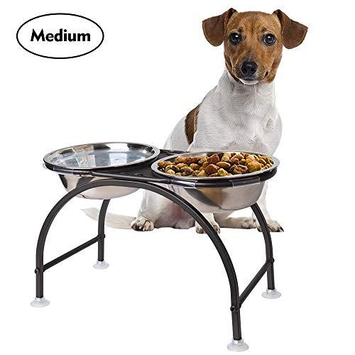 HomeMall Hundebar Hundenapf,Futternapf Napfständer Hundebar Hundnäpfe für Großer Hund (Mittlerer Hund)