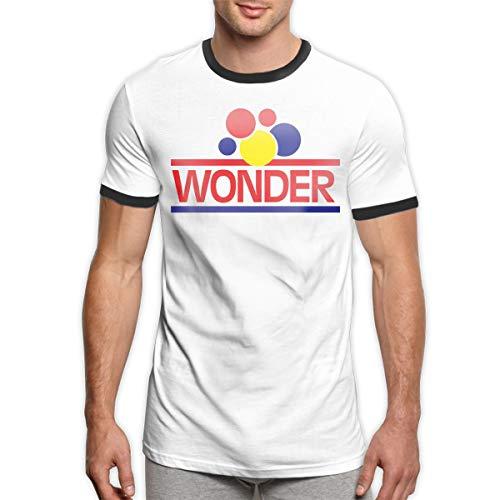 KarenJones Wonder Bread Men Short Sleeve Cotton Ringer T Shirt XXL Black