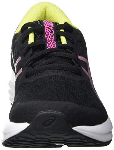 Asics Patriot 12, Zapatos para Correr Mujer, Negro (Black/Hot Pink), 37.5 EU