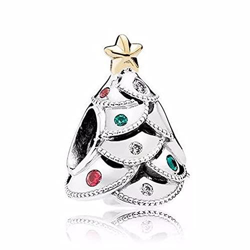 Pandocci 2016 Perle Di Natale Di Festa Dell'Albero Si Adatta Fascino Pandora Braccialetti Perline Cz Multicolori Per Monili Che Fanno