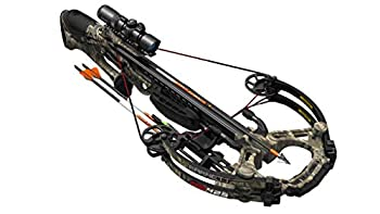 Barnett HyperGhost 425 Crossbow in Mossy Oak Treestand Camo Shoots 425 Feet Per Second and Includes Premium Illuminated 1.5-5x32 Scope