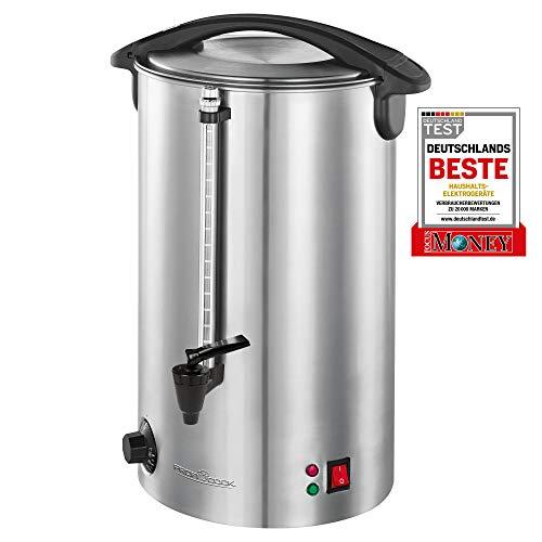 ProfiCook PC-HGA 1196 Heißgetränkeautomat, zum Erhitzen & Warmhalten von z.B. Glühwein/Kaffee/Tee/Punsch oder Suppen, hochwertiges Edelstahlgehäuse, 7 liters, Silber