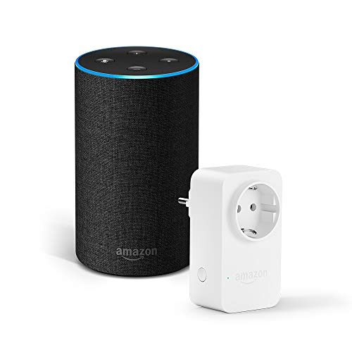 Amazon Echo (2ª generazione), tessuto antracite + Amazon Smart Plug, compatibile con Alexa