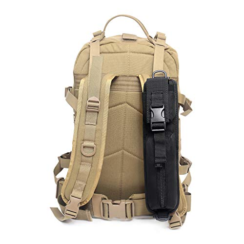 Tactical Molle Accessory Pouch Tactical Backpack Shoulder Strap Bag Hunting Tools Pouch (Backpack Not Included) (1 Pack Black)