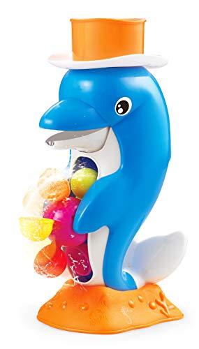 Small Foot 11303 Jouet de bain dauphin 2 pièces, jeu aquatique à partir de 18 mois, dans un bel emballage coloré