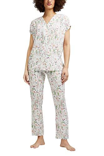 Esprit ARMATHA CAS NW CVE Kurzarm Pyjama Juego de Pijama, 110, 44 para Mujer
