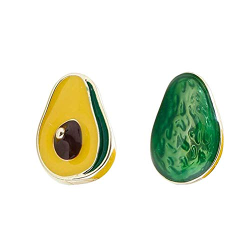 TENDYCOCO Pendientes creativos de Aguacate Pendientes de Fruta Pendientes Joyas para Mujeres Damas Niñas Verde