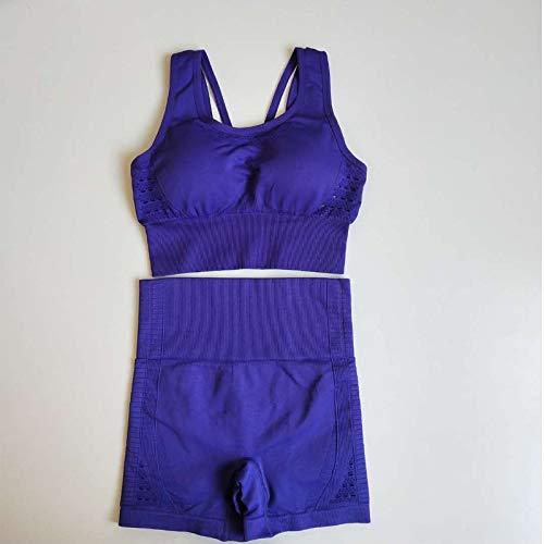 2PCS Naadloze Yoga Sets Women Summer Sport BH Fitness Kleding + hoge taille Gym Shorts Sport Leggings Workout Set
