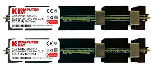 Komputerbay 8GB (2X 4GB) DDR2 PC2-6400F 800MHz ECC Fully Buffered FB-DIMM (240 PIN) 8 GB w/Heatspreader für Apple-Computer