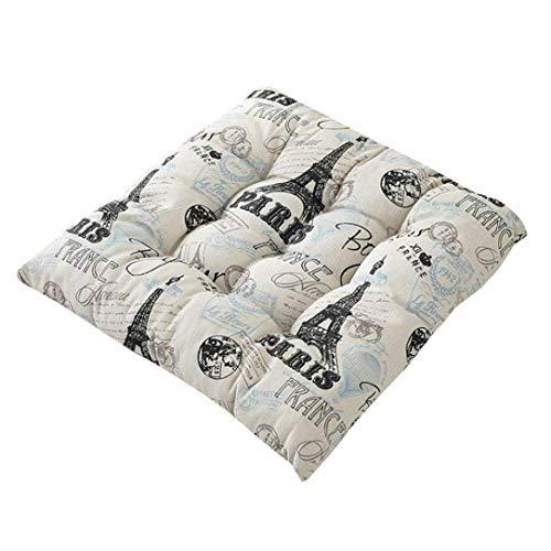 Xshuai 40 x 40 cm Durable Coton Lin épais Coussin de Chaise de Jardin Salle à Manger Home Office Tatami Assise Soft Pad Intérieur/extérieur, b, Size: Approx. 400 X 400 X 50mm