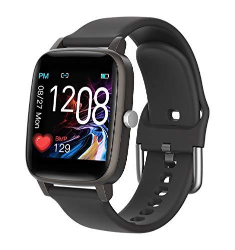 MMTek Thermo Care Advance - Smartwatch, Reloj Inteligente Deportivo con Termómetro, Pulsómetro, Calorías, Monitor de Actividad y Sueño, Podómetro, Impermeable IP67, Hombre,Mujer,Unisex (Negro)