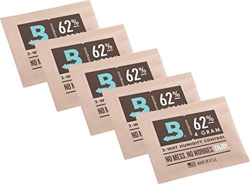 yaoviz® Set Boveda 62% 5 Beutel mit je 4g - 2-Wege-Feuchtigkeitsregler + Rasta-Button