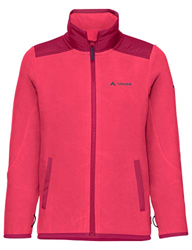 VAUDE Kinder Jacke Kids Racoon Fleece Jacket, Fleecejacke, bright pink, 122/128, 406419571280
