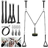 Poleas Gimnasio para Casa, Sistema de Polea Cable Máquina de Musculacion Accesorio de Entrenamiento para Máquinas de Brazo