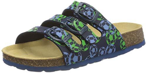 Superfit Jungen FUSSBETTPANTOFFEL Pantoffeln, Blau (Ocean Multi 83), 24 EU