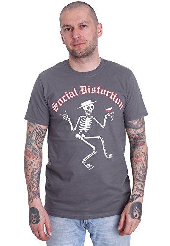 Social Distortion - Skelly Logo Charcoal - T-Shirt-Medium