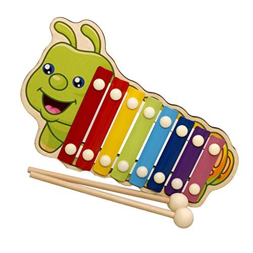 F Fityle 8 Key Klavier Xylophon Glockenspiel Musikinstrumente für Kinder - Raupe