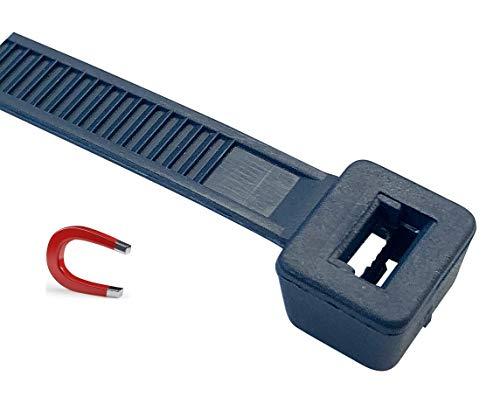 Detektierbare Kabelbinder, 140 mm x 3,6 mm, detektierbar, blau , VE 100 Stück…