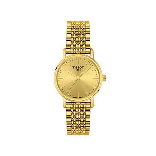 Tissot Damen Analog Quarz Everytime Small Armbanduhr mit Edelstahl Armband T1092103302100