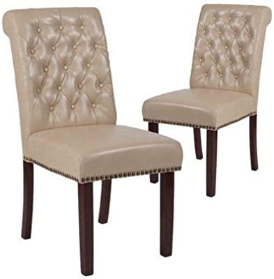 Amazon.com - Huisenus Padding Dining Chair Wood High Back ...