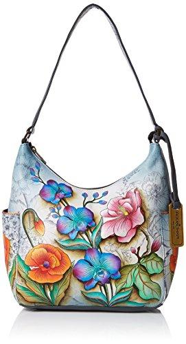 Anuschka Damen Classic Side Pockets Klassische Hobo-Tasche mit Einschubfächern Ffy, Floral Fantasy, Einheitsgröße