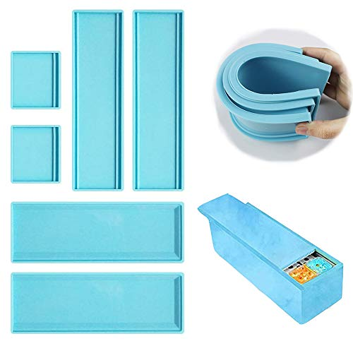Dominoes Storage Box Resin Mold,Domino Box Silicone Mold, Epoxy Resin Craft Mold, DIY Dominoes Jewelry Gifts Box Home Decoration (1 PCS)