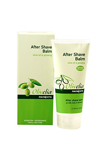 OLIVELIA AFTER SHAVE BALM OLIVE OIL & GINSENG HYDRATING-REFRESHING 100 ML.