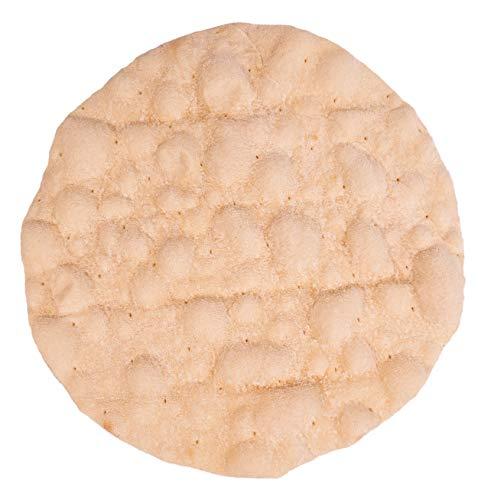 Bio Flammkuchenteig – Flammkuchenböden – RUND 25 cm (5 Stück), vegan, vorgebacken im Steinofen für optimale Backergebnisse in jedem Ofen (1950VE5)