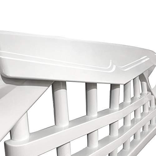 41tSfC5HZ8L - CStern Samurai Style Frontgrill Kühlergrill Kühlergitter Lüftungsgitter Glänzend Weiß für Jeep Wrangler JK 2007-2018
