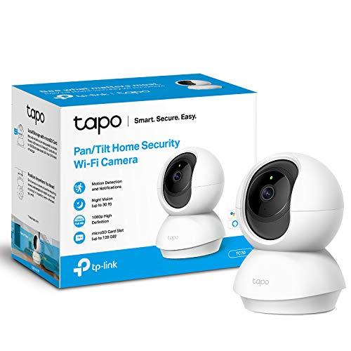 TP-Link Tapo Pan/Tilt Smart Security Camera, Indoor CCTV, 360° Rotational...