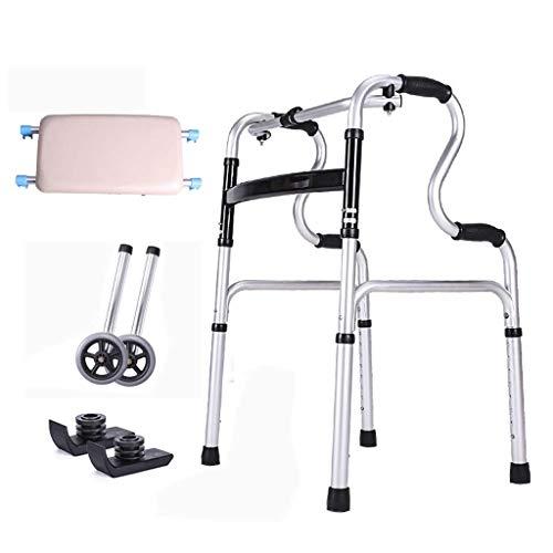 2-wiel Walker, Dual-use verstelbare hoogte, antislip leuning met douchebord, Ouderen gehandicapte hulpmiddelen