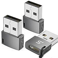 [Schnellladung & Datenübertragung] Schnellladung USB-Buchse Typ C auf USB A-Steckeradapter, bis zu 5 V / 3 A Ausgangsstrom; Standard-USB 2.0-Datenübertragungsgeschwindigkeit (480 Mbit / s). [Einfach zu bedienen und langlebig] Kein zusätzlicher Treibe...