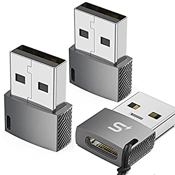 USB C Female to USB Male Adapter 3-Pack ,Stouchi Type C to A Charger Cable Adapter for iPhone 11 12 Pro Max,Airpods iPad,Samsung Galaxy Note 10 S20 Plus FE Ultra,Google Pixel 5 4 4a 3 3A 2 XL,S21