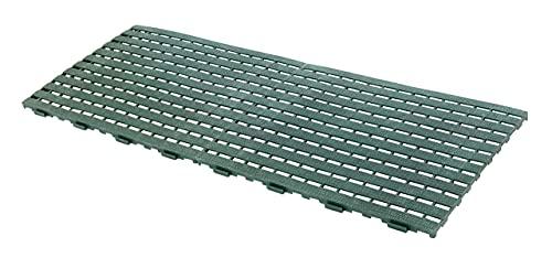 UPP Haus- & Gartenmatte   Schützt Rasen, Balkonboden und Terrassenplatten   4 Stück   je 60 x 45 cm   grün