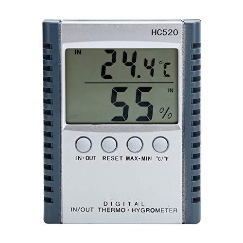 Mxzzand Termómetro Digital LCD Higrómetro Termómetro de Humedad para el hogar/Pared/Escritorio/Interior/Exterior