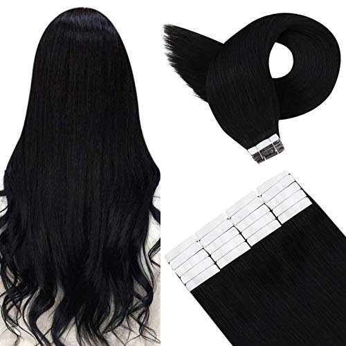YoungSee Tape in Hair Extensions Skin Weft Tape in Human Hair Extensions Silky Straight Hair Extensions Tape in Seamless...